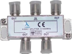 ClearView 4 Way F connector splitter 5-1000MHz