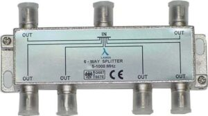 ClearView 6 Way F connector splitter 5-1000MHz