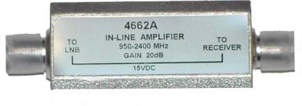 ClearView 20dB Line Amplifier 40-2000MHz with slope.