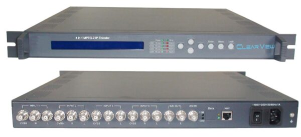 ClearView KR3204I 4 in 1 MPEG2 Encoder with IP/ASI output-0