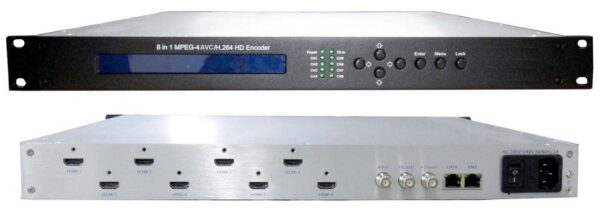 ClearView KR3218A 8 input HDMI HD MPEG4 Encoder with IP/ASI out-0