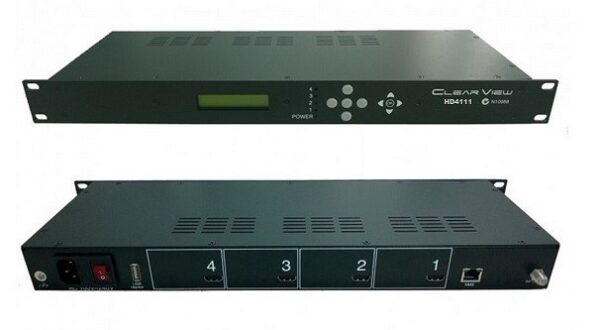 ClearView HD4111 Quad HD MPEG4 ISDBT Modulator 4RF Carriers Out-0