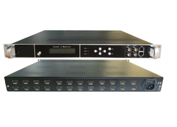 HD244-16 16 x HDMI Input, HD MPEG4 modulator with 8 x DVBT carriers out, and IP in and out.-0