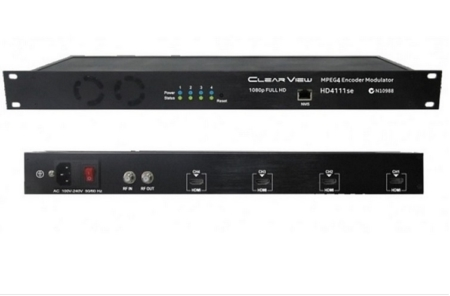 ClearView Low Cost HD4111se Quad HD MPEG4 DVBT Modulator 4RF Carriers Out- Web GUI Control Only.