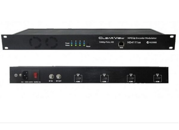 ClearView Low Cost HD4111se Quad HD MPEG4 DVBT Modulator 4RF Carriers Out- Web GUI Control Only.-0