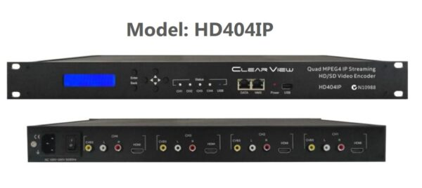 ClearView HD404IP MPEG4, 4 HDMI and 4 x CVBS to IP Streamer-0