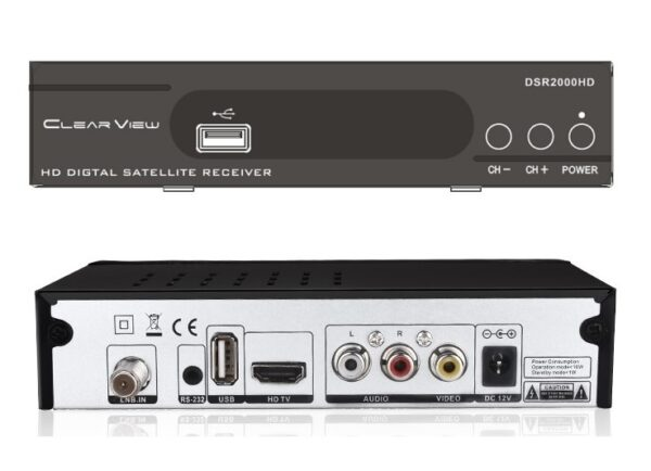 ClearView DSR2000HD DVBS2 Small Sized Digital Satellite Receiver-0